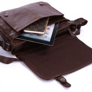 Vintage Handmade Leather Messenger ..