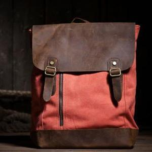 Gift - Canvas Bag Leather Canvas Ba..