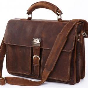 Handmade Leather Messenger Bag Men'..