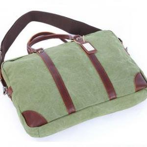 Coral Green Canvas Bag Canvas Messe..