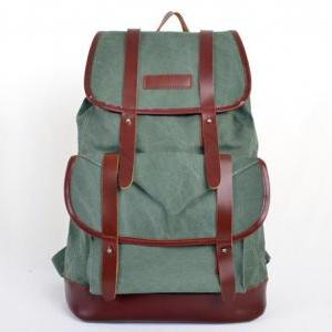 Coral-Green Canvas Backpack Canvas ..