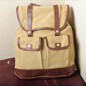 Gift --- Yellow Canvas Backpack, St..