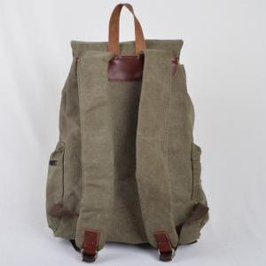 Army Green Canvas Bag, Leather-Canv..