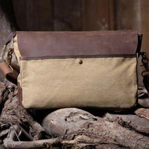 Handmade Canvas Leather Bag Canvas ..