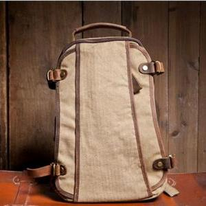Khaki Canvas Bag Student Canvas Bac..