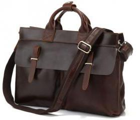 Brown Leather Messen..