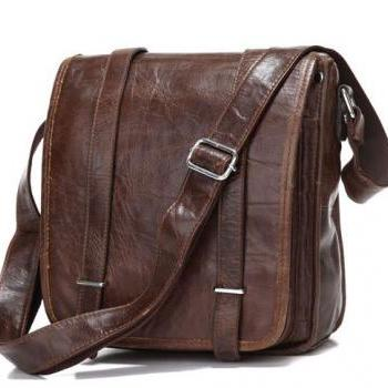 Christmas Gift--Real Retro Leather Unisex Shoulder Messenger Bag Crossboday Purse